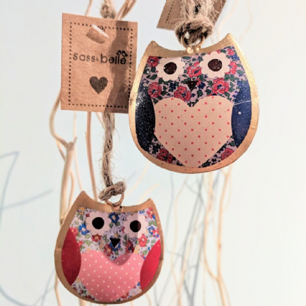 £2 Florence Mini Tin Hanging Owl